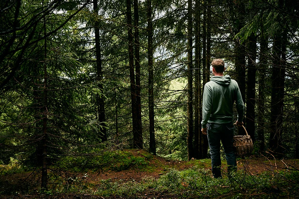 Tobias Bacher im Wald der Dürsteinalm